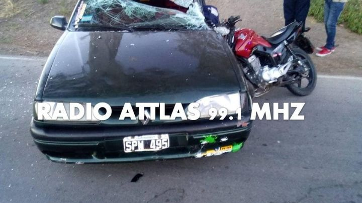 Terrible accidente en San Martín dejó a un motociclista en grave estado